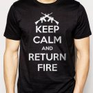 Best Buy Keep Calm and Return Fire Men Adult T-Shirt Sz S-2XL