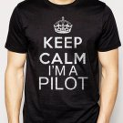 Best Buy Keep Calm I'm A Pilot Mens T-Shirt Fly Flying Airplane Tee Men Adult T-Shirt Sz S-2XL