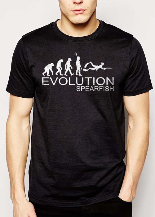 Best Buy Spearfishing Evolution of man Men Adult T-Shirt Sz S-2XL