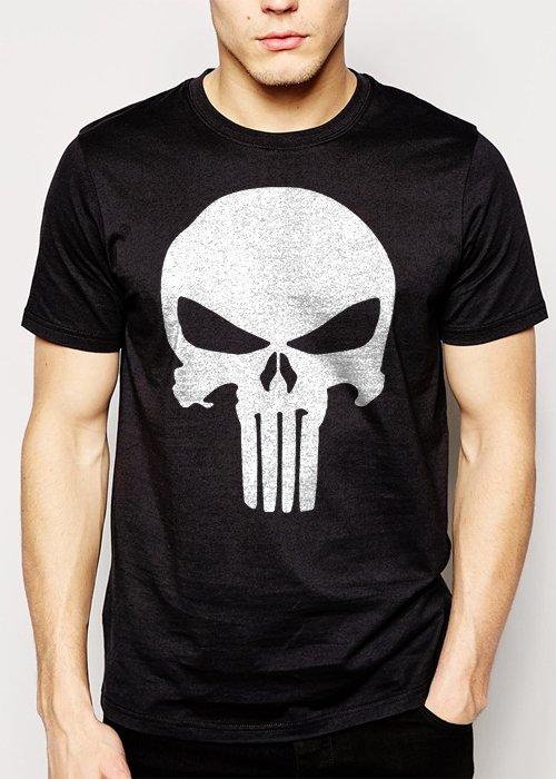 Best Buy The Punisher Superhero Skull Men Adult T-Shirt Sz S-2XL