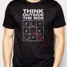 Best Buy THINK OUTSIDE THE BOX unique individual tic tac toe Men Adult T-Shirt Sz S-2XL