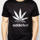 Best Buy Addicted Cannabis Funky Cool Swag Men Adult T-Shirt Sz S-2XL