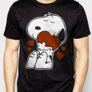Best Buy Snoopy Love Heart 50s Peanuts Cartoon Strip Men Adult T-Shirt Sz S-2XL