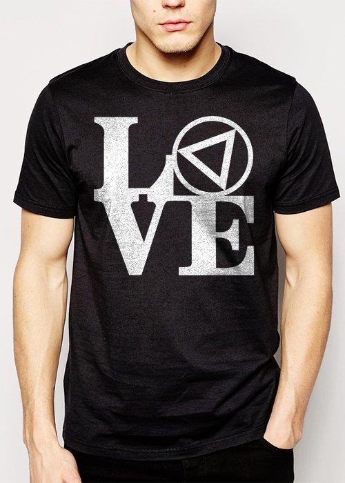 Best Buy AA Love Park Men Adult T-Shirt Sz S-2XL