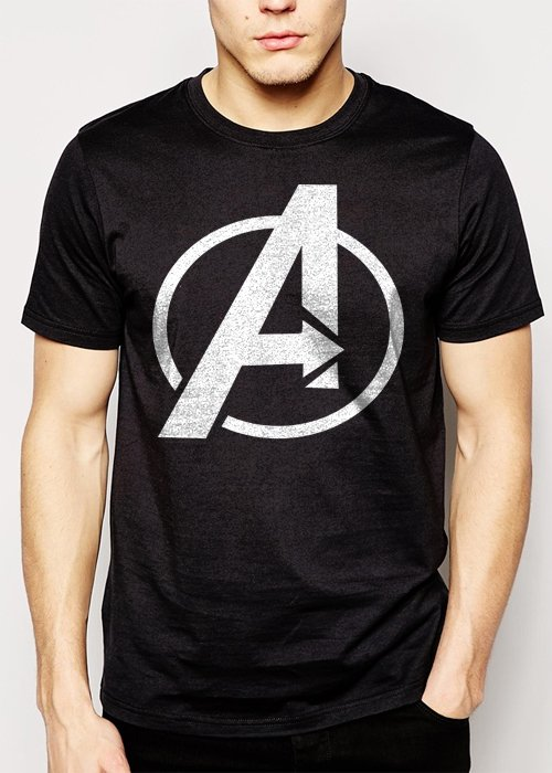Best Buy Avengers Logo Marvel Men Adult T-Shirt Sz S-2XL