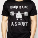 Best Buy Drop It Like A Squat Gym Work Out Fitness  Men Adult T-Shirt Sz S-2XL