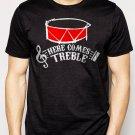 Best Buy HERE COMES TREBLE TROUBLE MARCHING BAND TEACHER MUSIC Men Adult T-Shirt Sz S-2XL
