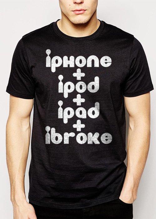 Best Buy iPod iPhone iPad iBroke Men Adult T-Shirt Sz S-2XL
