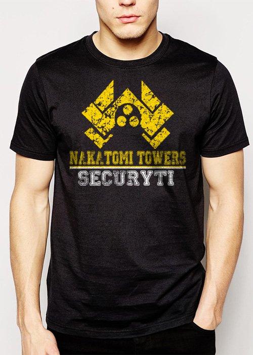 Best Buy Nakatomi Towers Security Movie Die Hard Men Adult T-Shirt Sz S-2XL