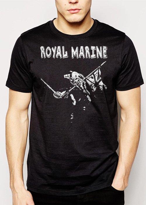 Best Buy Royal Marines The Trooper Funny Military Men Adult T-Shirt Sz S-2XL