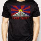 Best Buy FREE TIBET Coexist Flag Dalai Lama Peace Human Rights Men Adult T-Shirt Sz S-2XL
