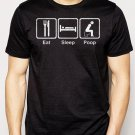 Best Buy Eat Sleep Poop Funny Men Adult T-Shirt Sz S-2XL
