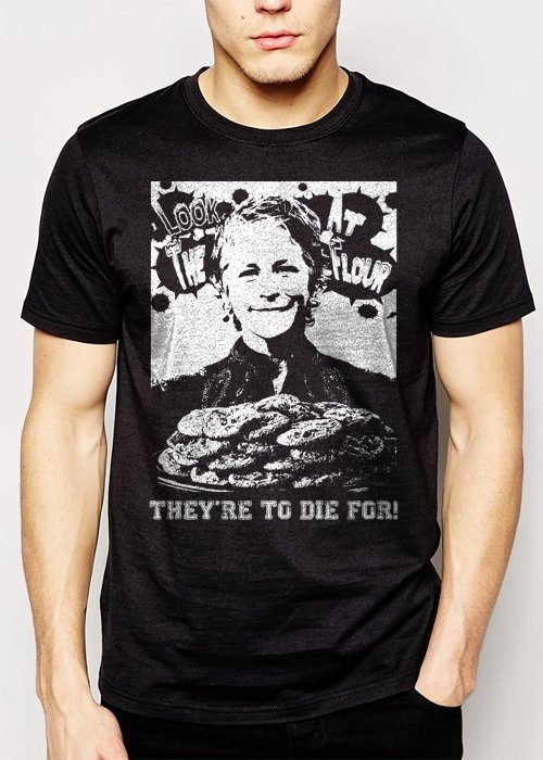 Best Buy Carol's Cookies The Walking Zombie Dead  Men Adult T-Shirt Sz S-2XL