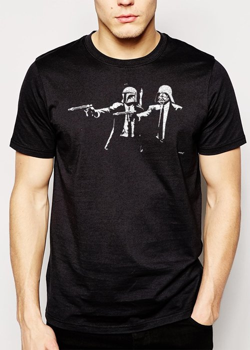 Best Buy Darth Pulp Fiction Star Wars Men Adult T-Shirt Sz S-2XL