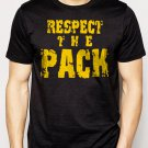 Best Buy Respect the Pack Green Bay Packers Go Pack Men Adult T-Shirt Sz S-2XL