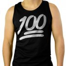 100 Emoji Music Tee Hip Hop Men Black Tank Top Sleeveless