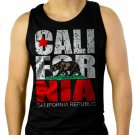 California Republic state Bear Flag Men Black Tank Top Sleeveless