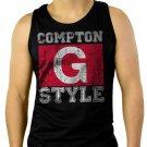 Compton G Style Gangsta Ice Cube Gangster Hip Hop Men Black Tank Top Sleeveless