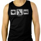 Rough Terrain Crane Driver Men Black Tank Top Sleeveless