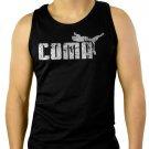 Coma in Puma Ware Funny Men Black Tank Top Sleeveless