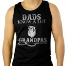 Dads Know ALot Grandpas Know Everything Fathers Day Men Black Tank Top Sleeveless