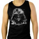 Darth Vader Death Star Face Star Wars Geek Si-Fi Men Black Tank Top Sleeveless