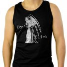 DON'T BLINK DOCTOR WHO WEEPING ANGEL Men Black Tank Top Sleeveless
