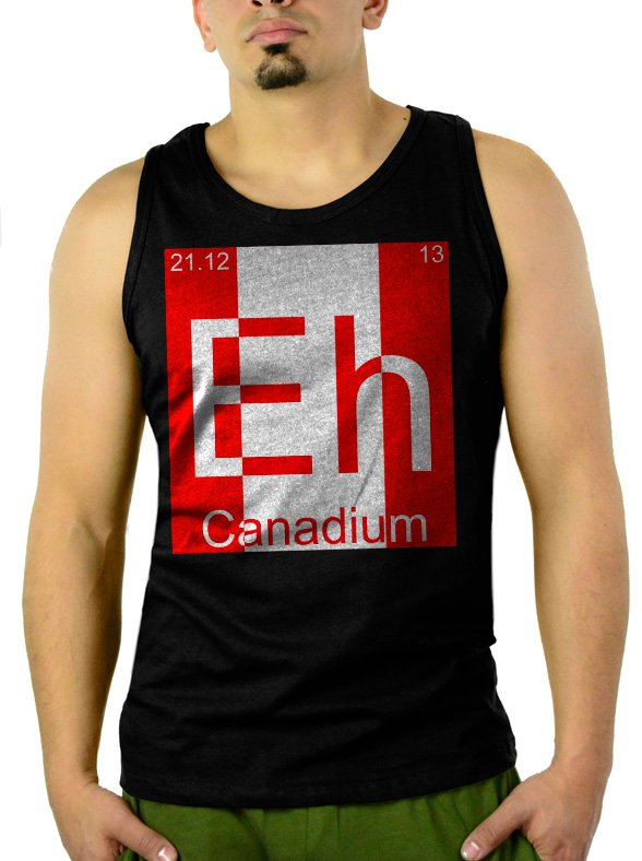 Eh Canadium Funny Periodic Table Men Black Tank Top Sleeveless