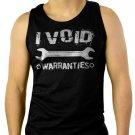 I Void Warranties Mechanic Wrench Men Black Tank Top Sleeveless
