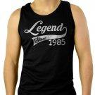Legend Since 1985 30th Birthday Men Black Tank Top Sleeveless