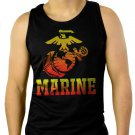 Marine Corps US United States Marines USMC Men Black Tank Top Sleeveless
