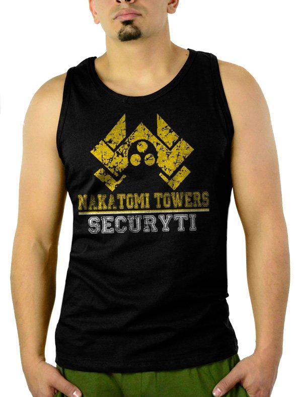 Nakatomi Towers Security Movie Die Hard Men Black Tank Top Sleeveless