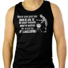 ONCE YOU PUT MY MEAT IN YOUR MOUTH Men Black Tank Top Sleeveless