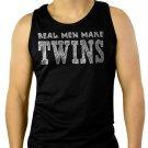 Real Men Make Twins Funny Dad Men Black Tank Top Sleeveless