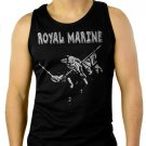 Royal Marines The Trooper Funny Military Men Black Tank Top Sleeveless