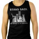 SCIENCE SHIRT STAND BACK IM GOING TO TRY SCIENCE FUNNY Men Black Tank Top Sleeveless