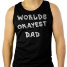 Worlds Okayest Dad Funny Holiday Gift Men Black Tank Top Sleeveless