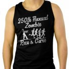 250th Annual Zombie Run for the Cure Walking Dead Men Black Tank Top Sleeveless