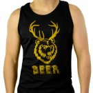 501 Beer Deer funny vintage bear drunk party college Men Black Tank Top Sleeveless