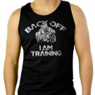 Back Off MMA Street Bodybuilding Workout Men Black Tank Top Sleeveless