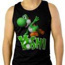 Boys Nintendo Big Green Yoshi Men Black Tank Top Sleeveless