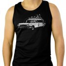 Ecto 1 ghostbusters, hearse, 80s Men Black Tank Top Sleeveless