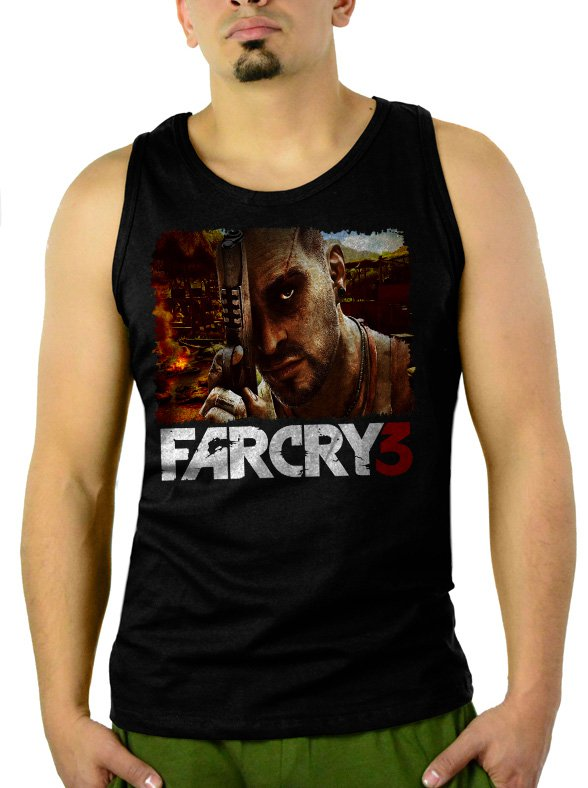 Far Cry 3 Men Black Tank Top Sleeveless