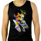 Nikola Tesla Men Black Tank Top Sleeveless