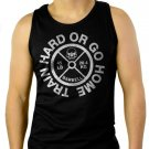 TRAIN HARD GYM MMA Street Bodybuilding Men Black Tank Top Sleeveless