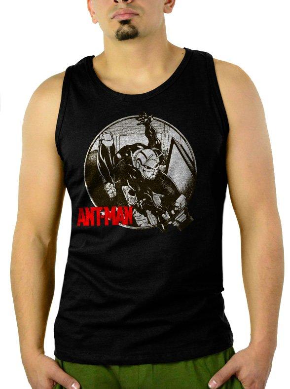 Ant-Man Comic Marvel Avengers Men Black Tank Top Sleeveless