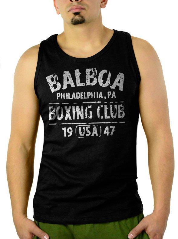 BALBOA BOXING CLUB ROCKY Men Black Tank Top Sleeveless