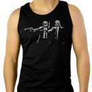 Darth Pulp Fiction Star Wars Men Black Tank Top Sleeveless