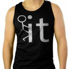 Fk It Funny College Party Men Black Tank Top Sleeveless