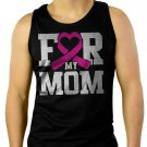For My Mom Breast Cancer Awareness Men Black Tank Top Sleeveless